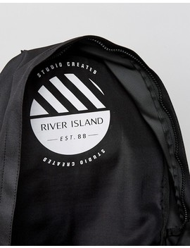 River Island Backpack With Pocket In Black by River Island