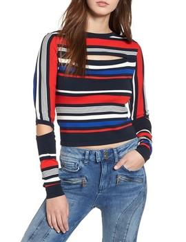 X Gigi Hadid Intarsia Stripe Sweater by Tommy Jeans