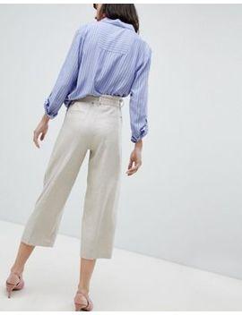 Esprit   Pantalon Large Coupe Courte En Lin Mélangé by Esprit