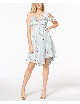 One Shoulder Flounce Wrap Dress by Astr The Label