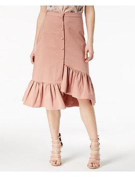 Cotton Ruffled Asymmetrical Skirt by J.O.A.