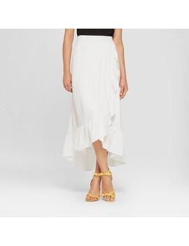 Women's Ruffle Wrap Maxi Dress   Notations   White by Target