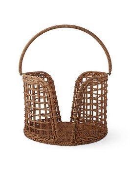 Aerin Light Rattan Plate Caddy by Williams   Sonoma