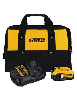Dewalt Dcb205 Ck 20 Volt Max 5.0 Ah Lithium Ion Battery And Charger Kit With Bag by Dewalt