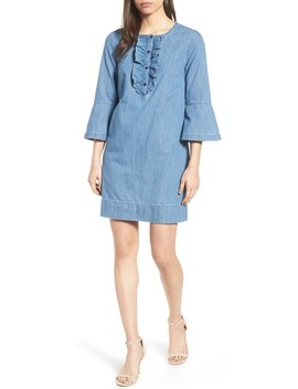 Chambray Ruffle Shift Dress by Draper James