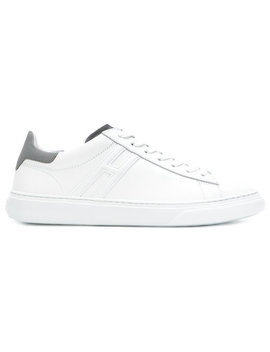 Contrast Heel Counter Sneakers by Hogan