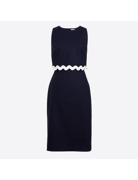 Rickrack Trim Dress by J.Crew