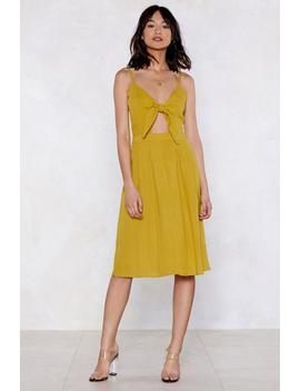Forward Thinking Tie Dress by Nasty Gal