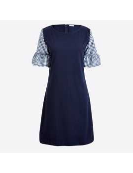 Printed Bell Sleeve Dress by J.Crew