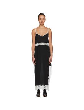 Black Lace Logo Slip Dress by Gucci
