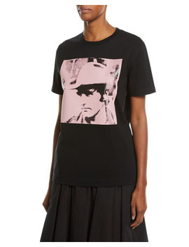 Dennis Hopper Short Sleeve Round Neck Oversized T Shirt, Black/Pink by Calvin Klein 205 W39 Nyc