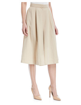 Cotton Linen Knee Length Culottes by Co