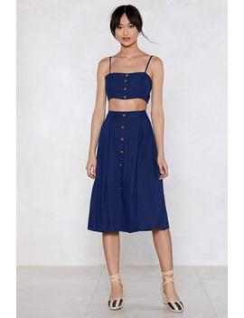 Let's Stick Together Linen Crop Top And Skirt Set by Nasty Gal