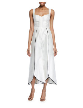 Edaline Striped Wide Leg Jumpsuit by Alexis