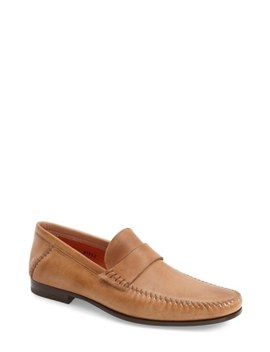 'paine' Leather Loafer by Santoni
