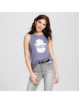 Women's Good Vibes Graphic Tank Top   Grayson Threads (Juniors') Blue by Grayson Threads