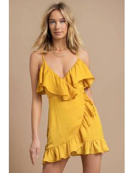 Scarlett Ruffle 'marigold' Wrap Dress by Tobi