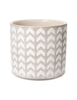 Bungalow Rose Pinkney Geometric Patterned Ceramic Pot Planter & Reviews by Bungalow Rose