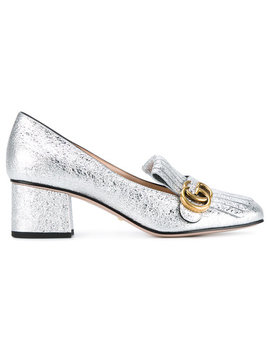 Silver Marmont Mid Heelshome Women Shoes Loafers by Gucci