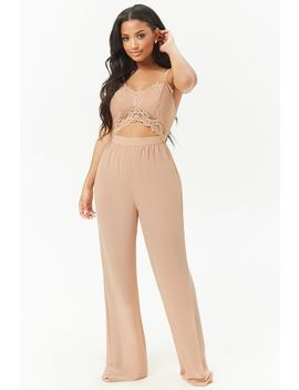 Lace Cutout Cami Jumpsuit by Forever 21