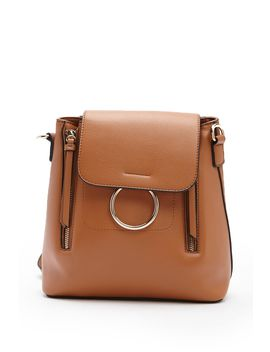 Faux Leather O Ring Backpack by Forever 21