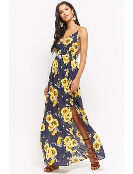 Daisy Print Maxi Dress by Forever 21