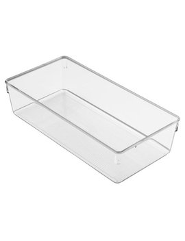 Inter Design Linus Dresser And Vanity Drawer Organizer, 12 Inch By 6 Inch By 3 Inch, Clear by Inter Design