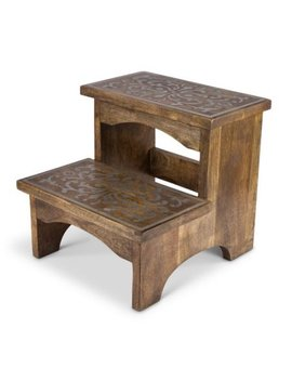 The Gg Collection 2 Step Wood Step Stool by The Gg Collection