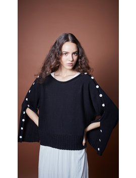 Button Sleeve Sweater by Smythe