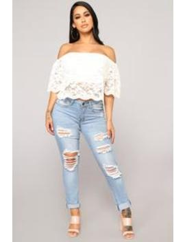Show You Up Distressed Jeans   Light Blue Wash by Fashion Nova