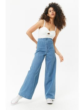 High Rise Wide Leg Jeans by F21 Contemporary