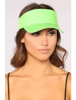 I Need Your Ad Visor   Lime Green by Fashion Nova