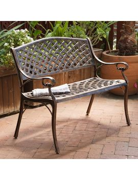 Cozumel Copper Cast Aluminum Bench By Christopher Knight Home by Christopher Knight Home