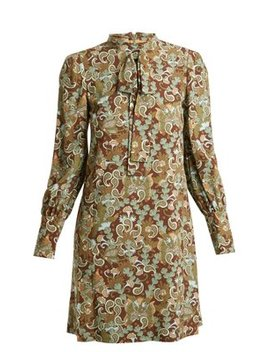 Butterfly Garden Party Print Crepe Dress by Chloé