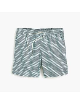 "6"" Swim Trunk In Starburst Print by J.Crew"