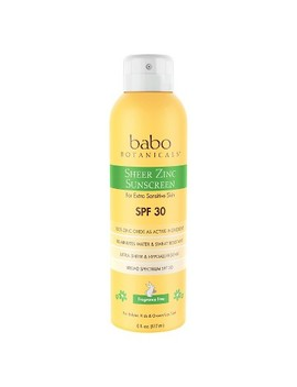 Babo Botanicals Sheer Zinc Sunscreen Spray Fragrance   Spf 30   6.0oz by Babo Botanicals