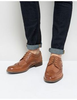 Silver Street Smart Brogues In Tan Leather by Shoes