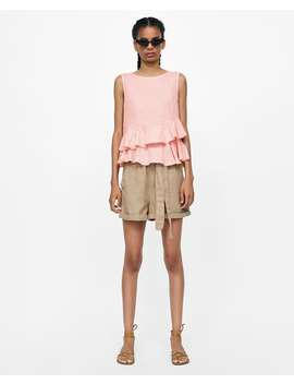 Linen Top With Ruffles  View All Shirts by Zara