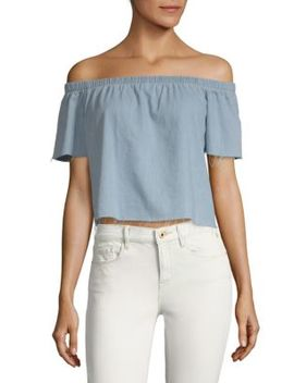 Off The Shoulder Cotton Top by Mother