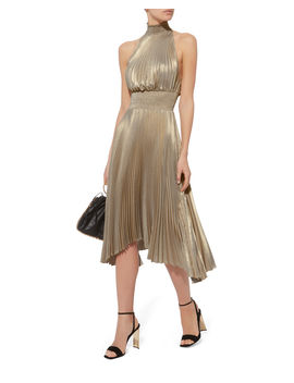Renzo Metallic Pleated Dress by A.L.C.