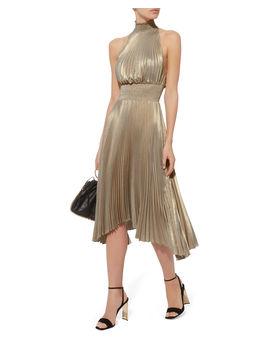 Renzo Metallic Pleated Dress by A.L.C.