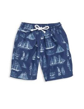 Little Boy's & Boy's Vintage Admiral Swim Shorts by Oscar De La Renta