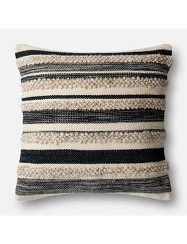 Magnolia Home Zander Charcoal Oversized Pillow by Magnolia Home By Joanna Gaines Collection