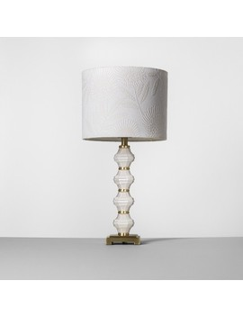 Glass Metal Stack Table Lamp White   Opalhouse™ by Opalhouse™
