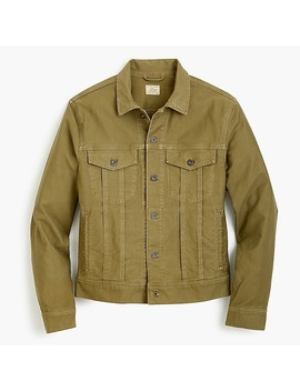 Trucker Jacket In Garment Dyed Bedford Cord by J.Crew