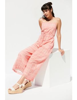 Uo Audra Gingham Jumpsuit by Urban Outfitters