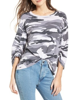 Shirred Sleeve Tee by Splendid