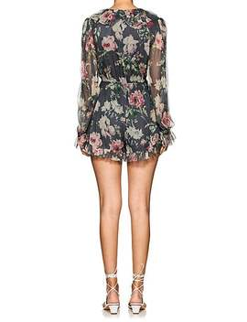 Iris Floral Silk Romper by Zimmermann