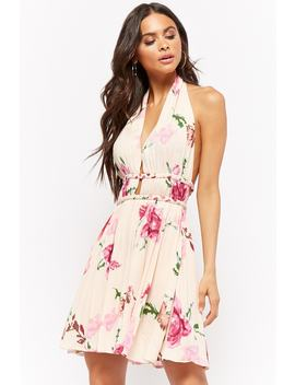 Plunging Floral Print Dress by Forever 21
