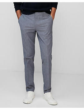 Extra Slim Light Blue Chambray Stretch Dress Pant by Express